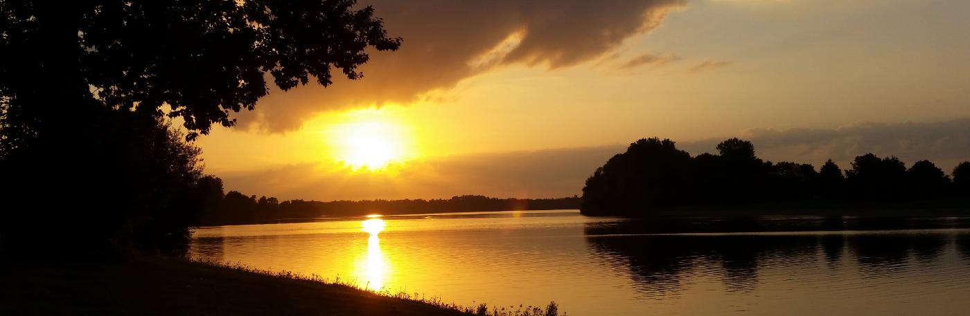 Sonnenuntergang am Auesee
